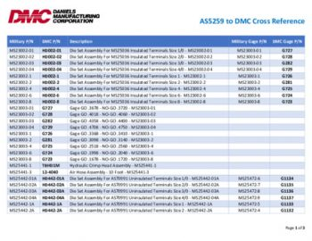 AS5259 to DMC Cross Reference